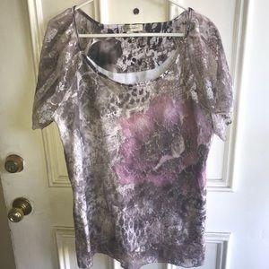 Dress barn Purple Lace Blouse Size 1X